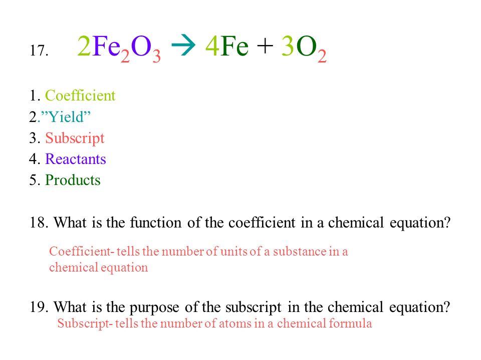 coefficient chemistry