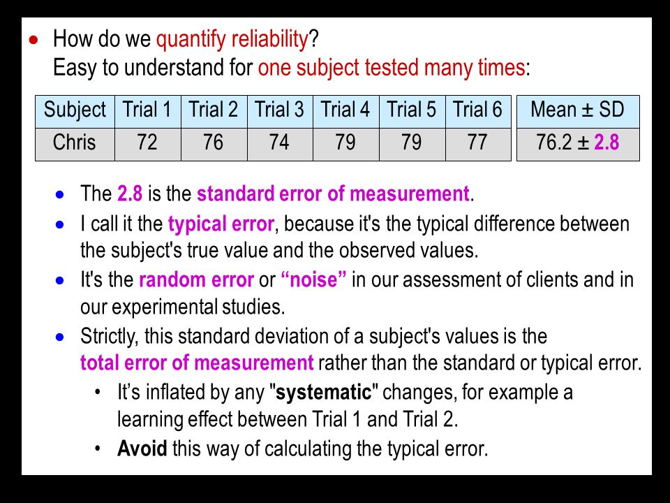 How do we quantify reliability