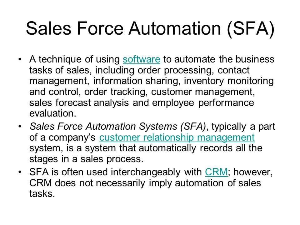 the advantage in using sales force automation technique Technologies comarch sfa mobile sales force allows field sales reps to sell  using only  an application module that facilitates managing sales  representatives'  'for some time now we have been looking for tools which can  give us a real competitive advantage,  white paper: sales force automation for  horeca.