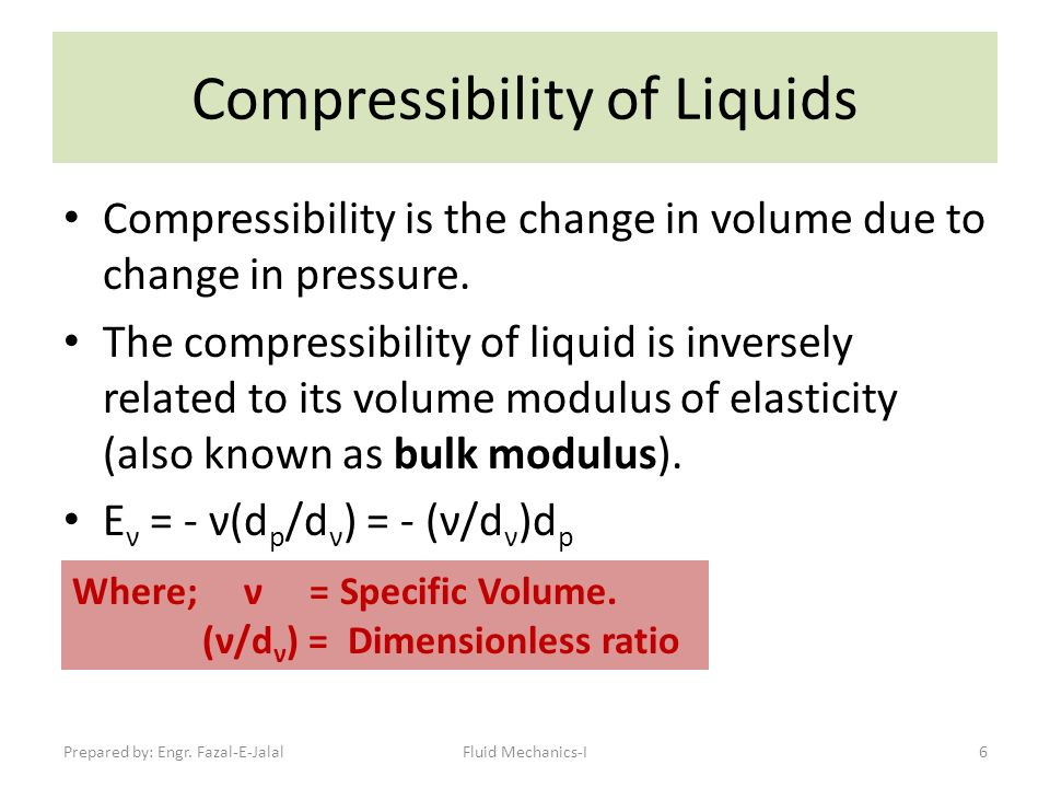 compressibility definition. 6 compressibility of liquids definition