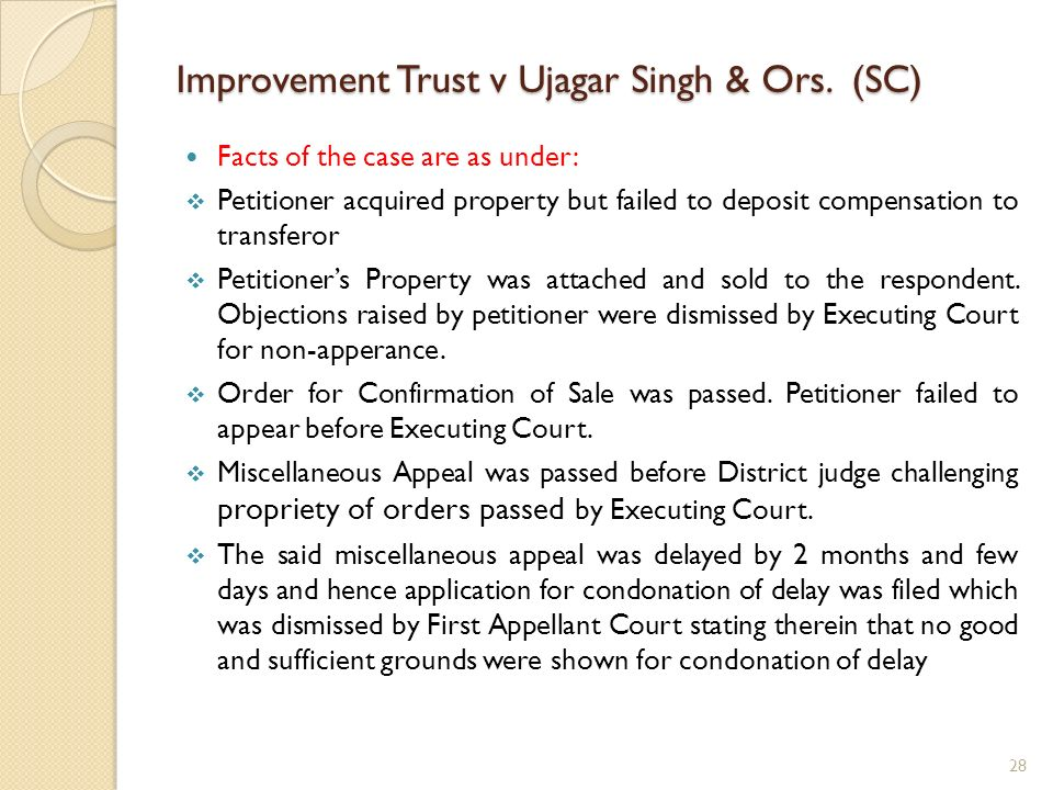 Improvement Trust v Ujagar Singh & Ors. (SC)