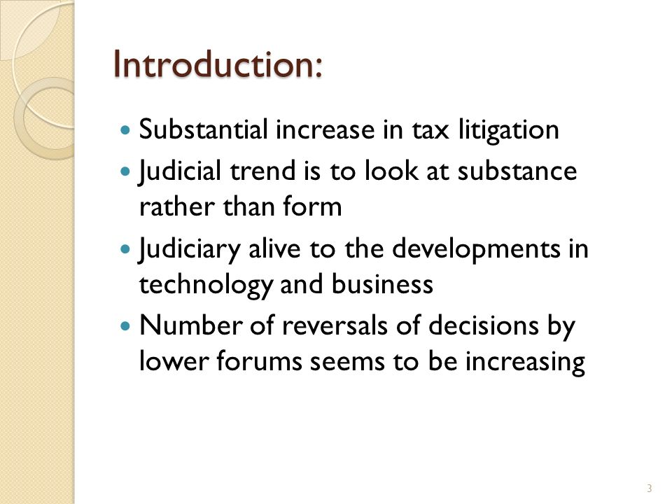 Introduction: Substantial increase in tax litigation