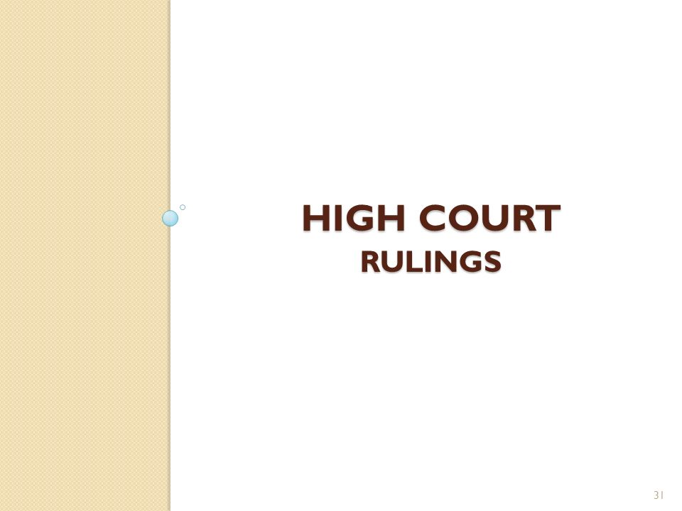 High court rulings
