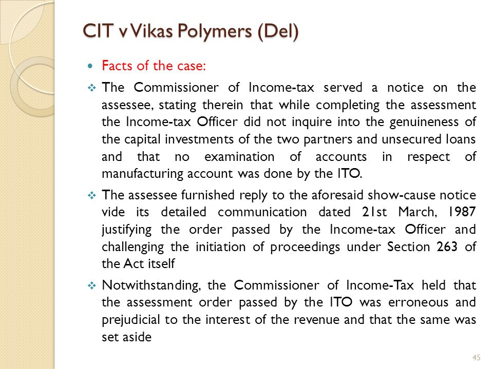 CIT v Vikas Polymers (Del)