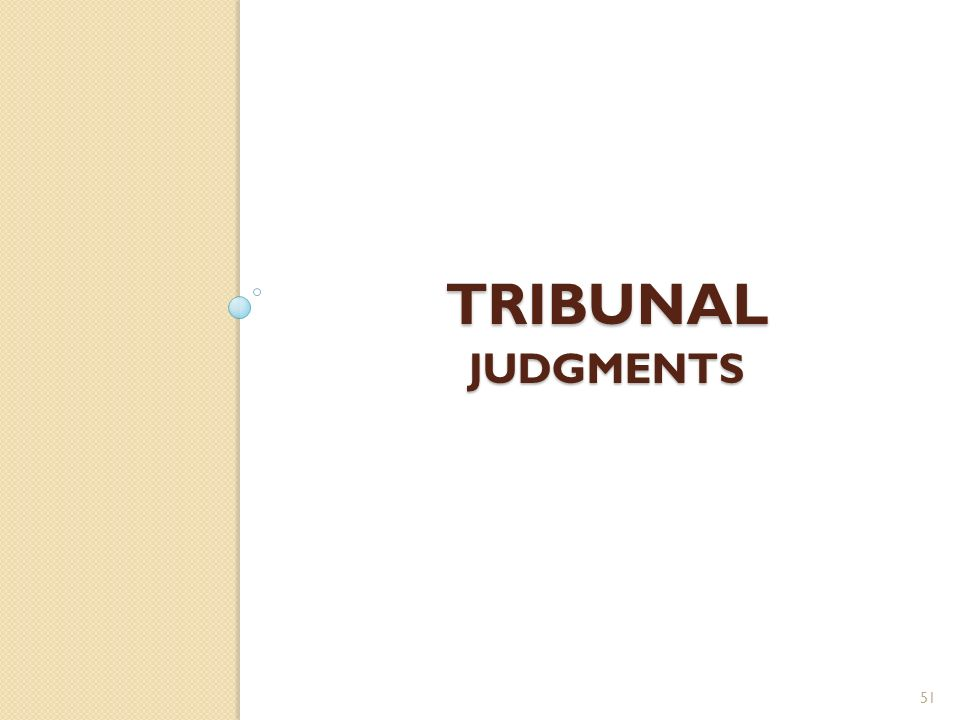 Tribunal judgments
