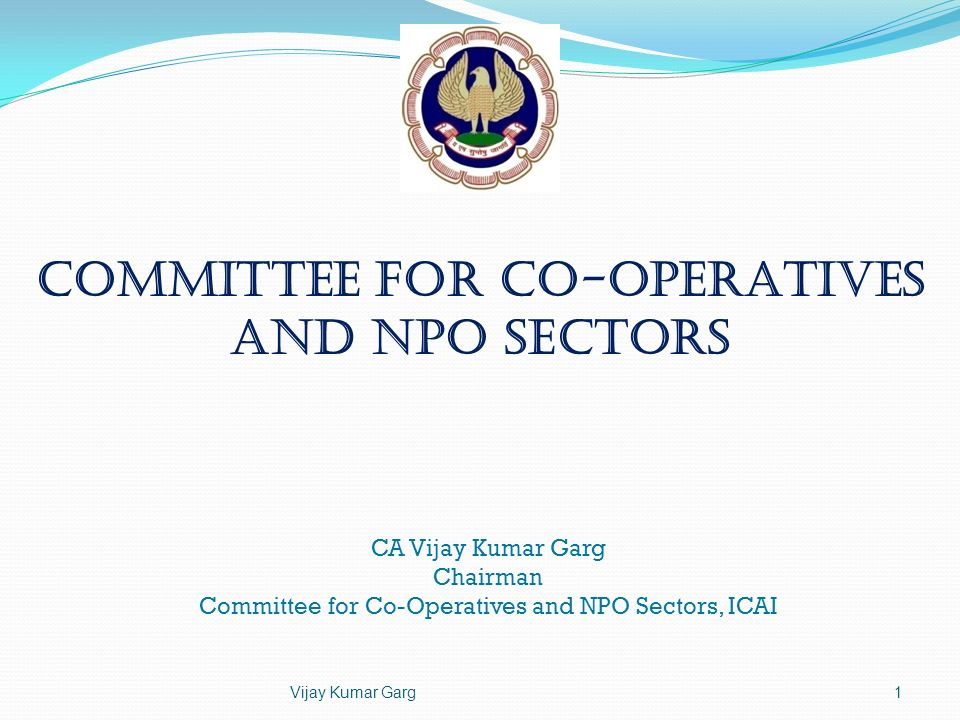 Committee for Co-operatives and NPO Sectors
