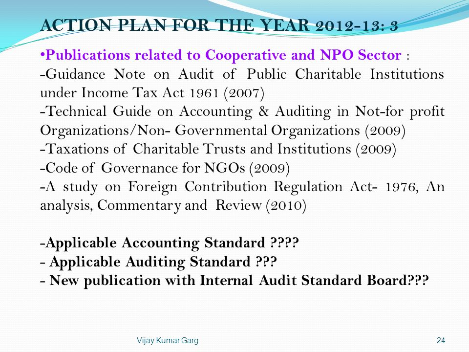 ACTION PLAN FOR THE YEAR 2012-13: 3