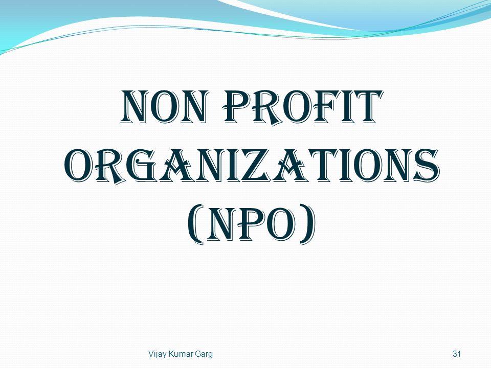 Non Profit Organizations (NPO)