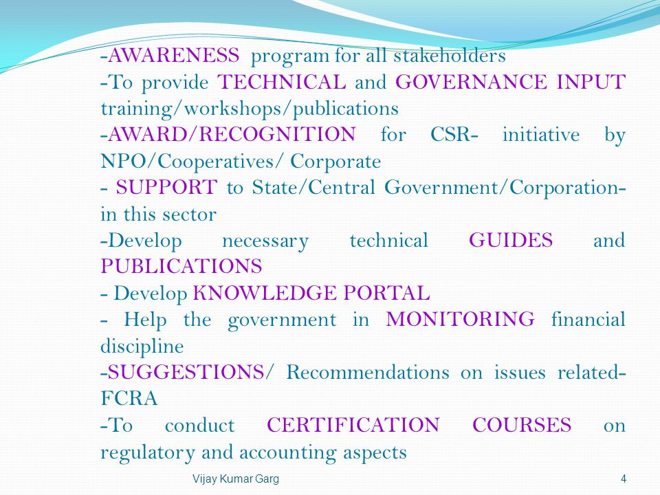 -AWARENESS program for all stakeholders