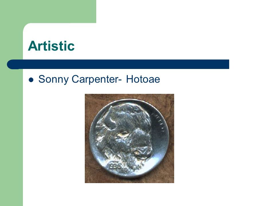 Artistic Sonny Carpenter- Hotoae