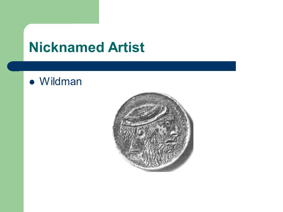 Nicknamed Artist Wildman