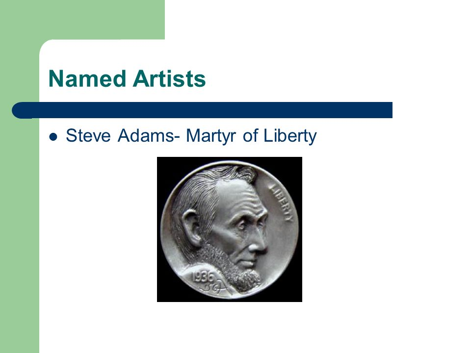 Named Artists Steve Adams- Martyr of Liberty