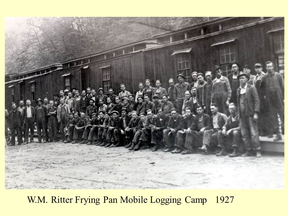 W.M. Ritter Frying Pan Mobile Logging Camp 1927