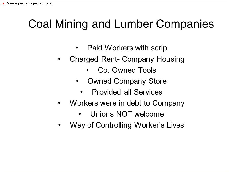 Coal Mining and Lumber Companies