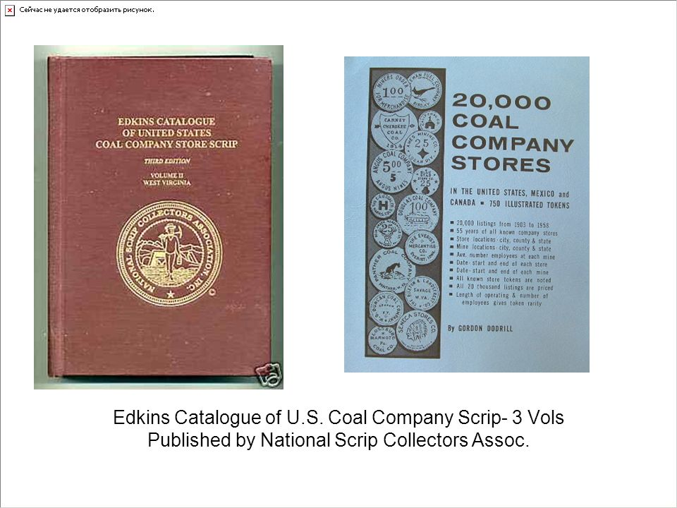 Edkins Catalogue of U.S. Coal Company Scrip- 3 Vols