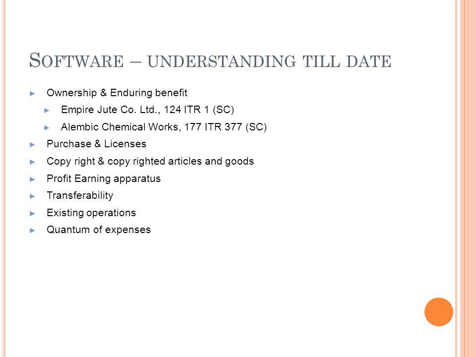 Software – understanding till date