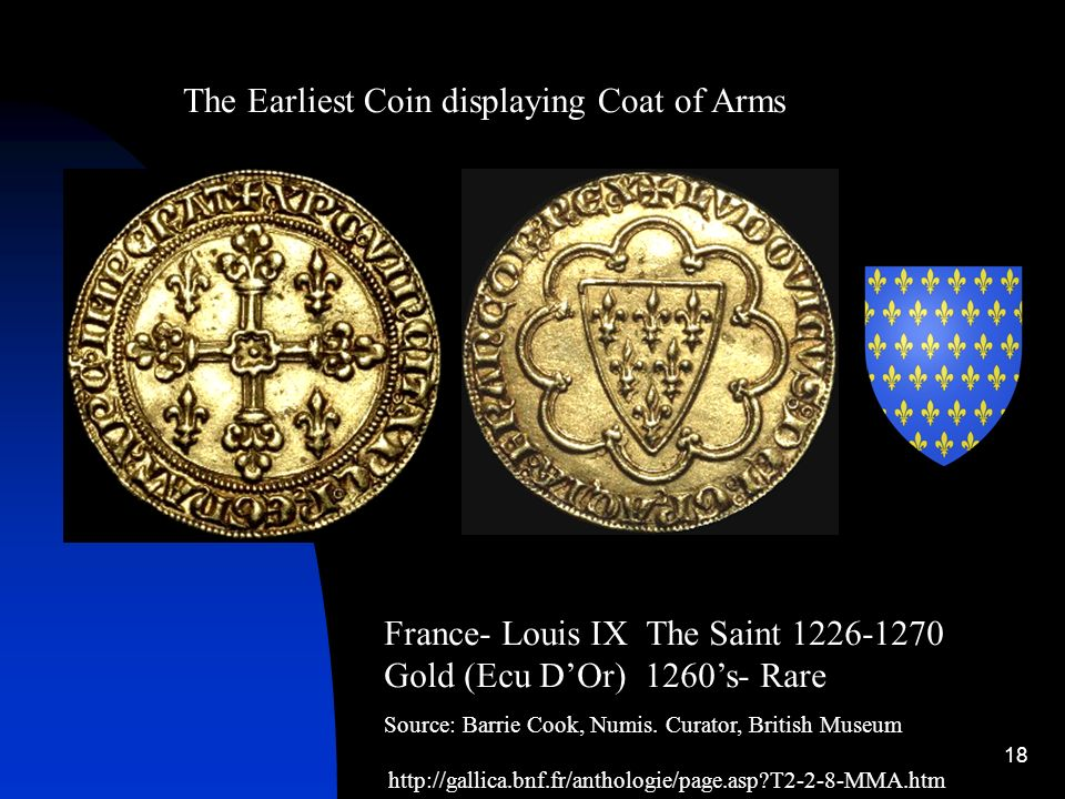 The Earliest Coin displaying Coat of Arms