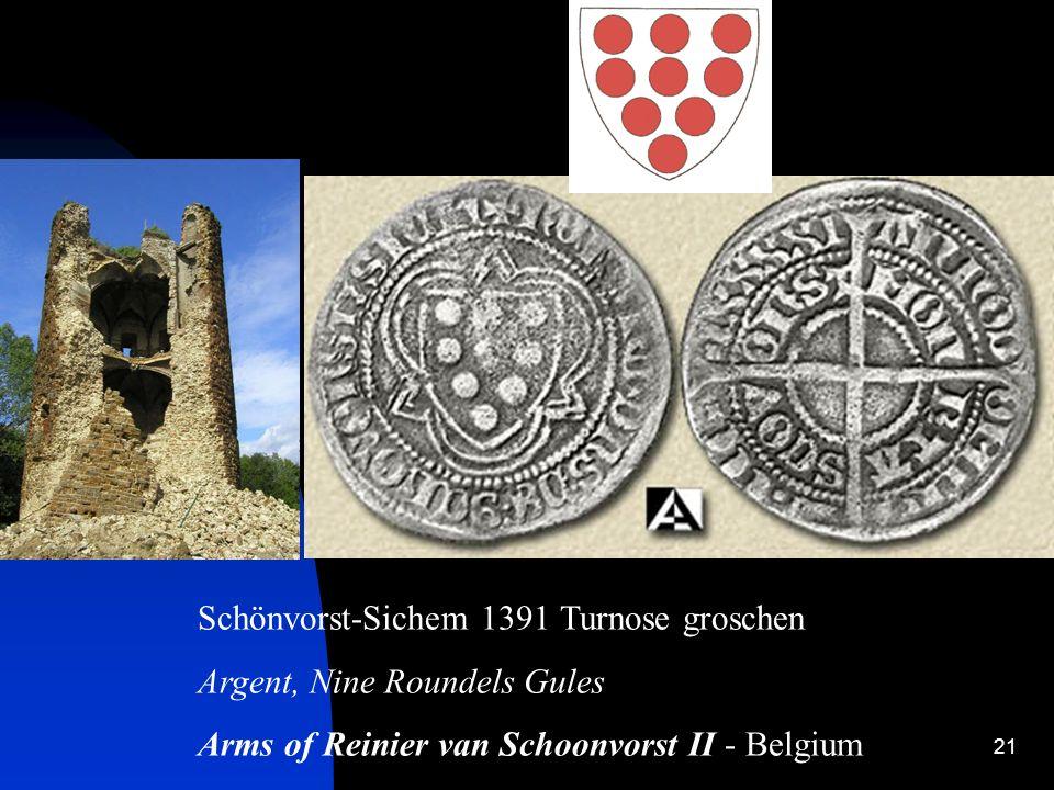 Schönvorst-Sichem 1391 Turnose groschen