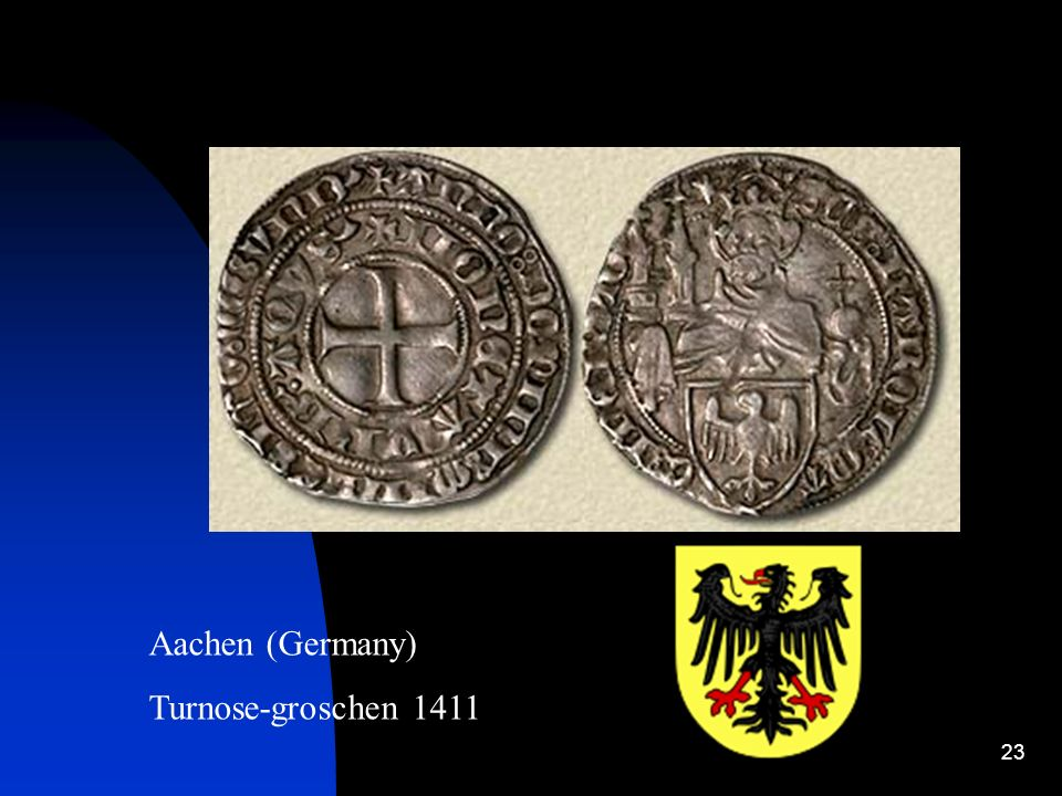 Aachen (Germany) Turnose-groschen 1411