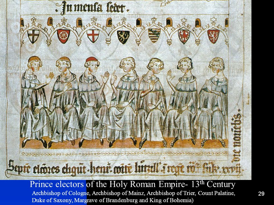 Prince electors of the Holy Roman Empire- 13th Century