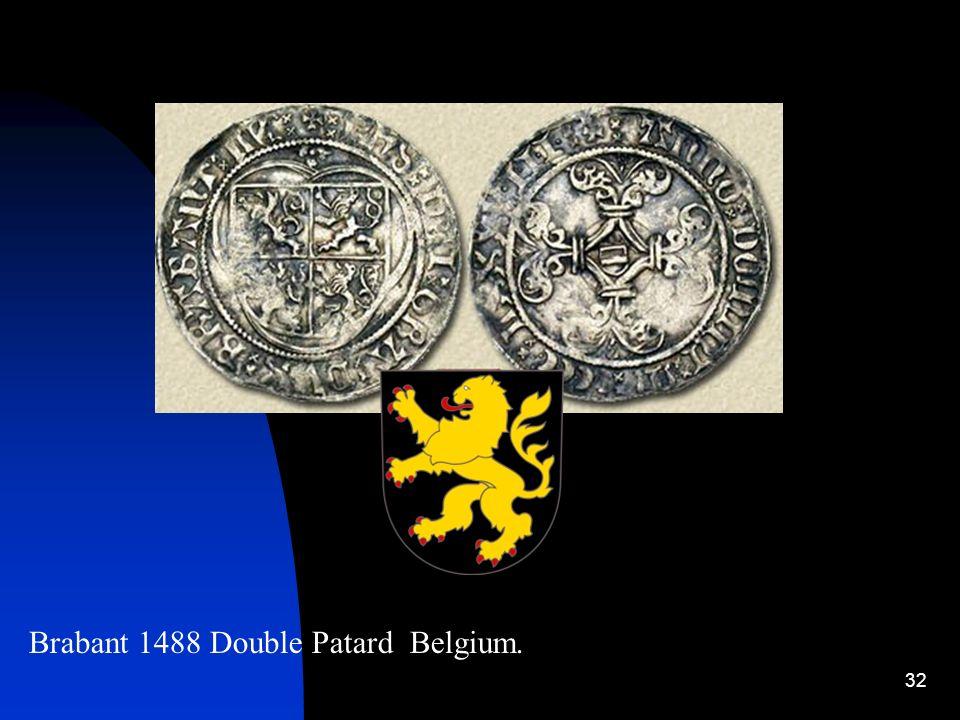 Brabant 1488 Double Patard Belgium.