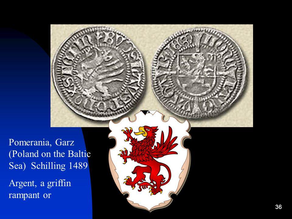 Pomerania, Garz (Poland on the Baltic Sea) Schilling 1489