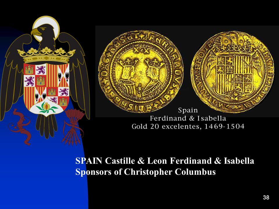 SPAIN Castille & Leon Ferdinand & Isabella