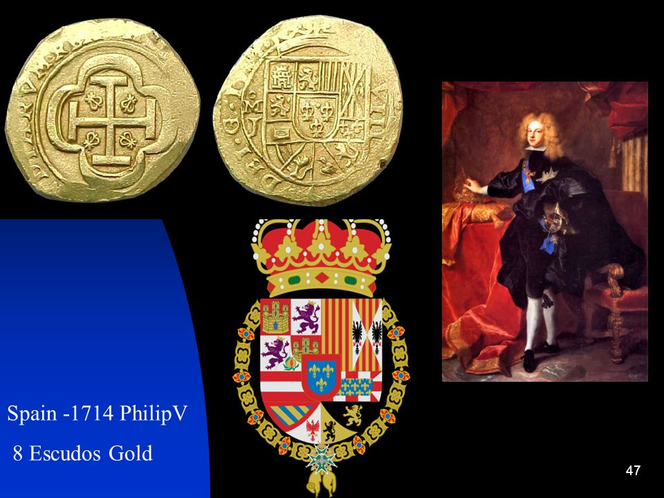 Spain -1714 PhilipV 8 Escudos Gold