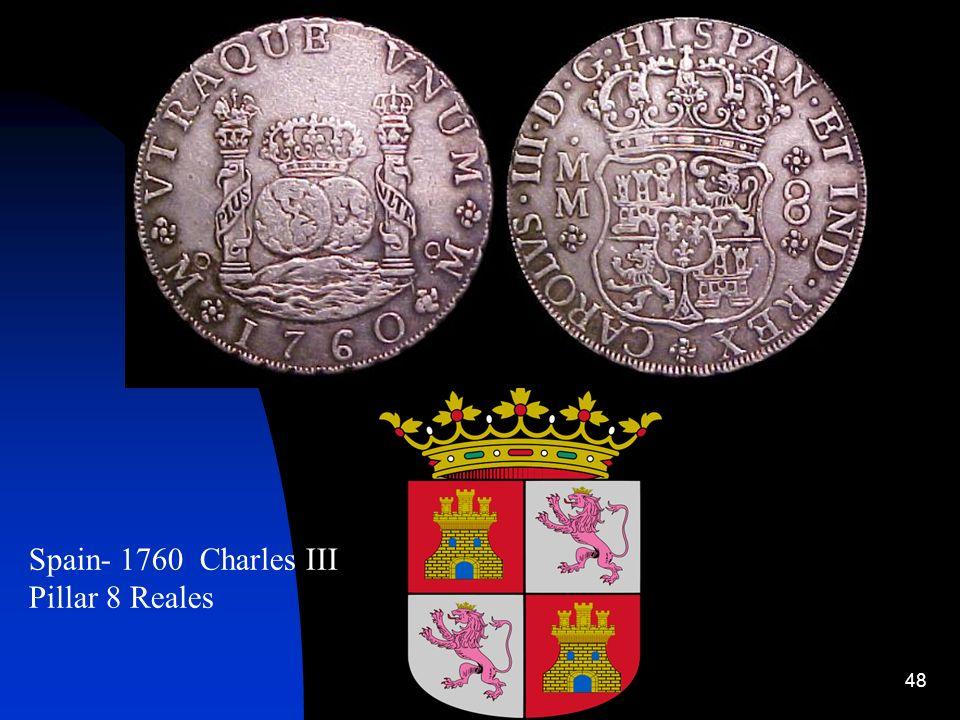 Spain- 1760 Charles III Pillar 8 Reales
