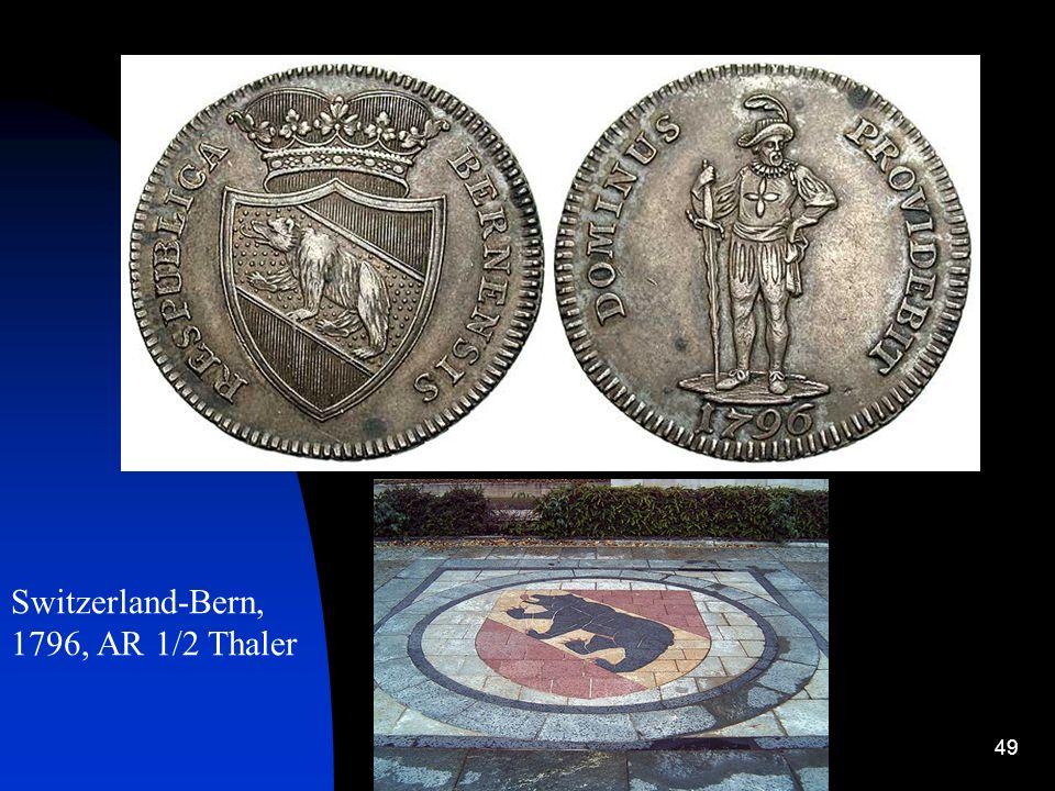 Switzerland-Bern, 1796, AR 1/2 Thaler