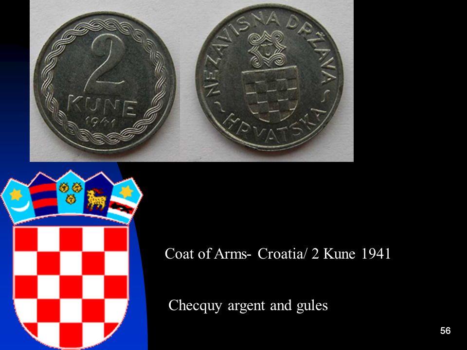 Coat of Arms- Croatia/ 2 Kune 1941