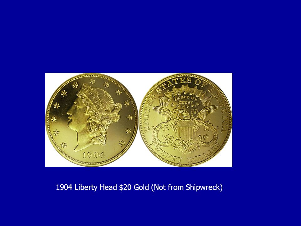 1904 Liberty Head $20 Gold (Not from Shipwreck)