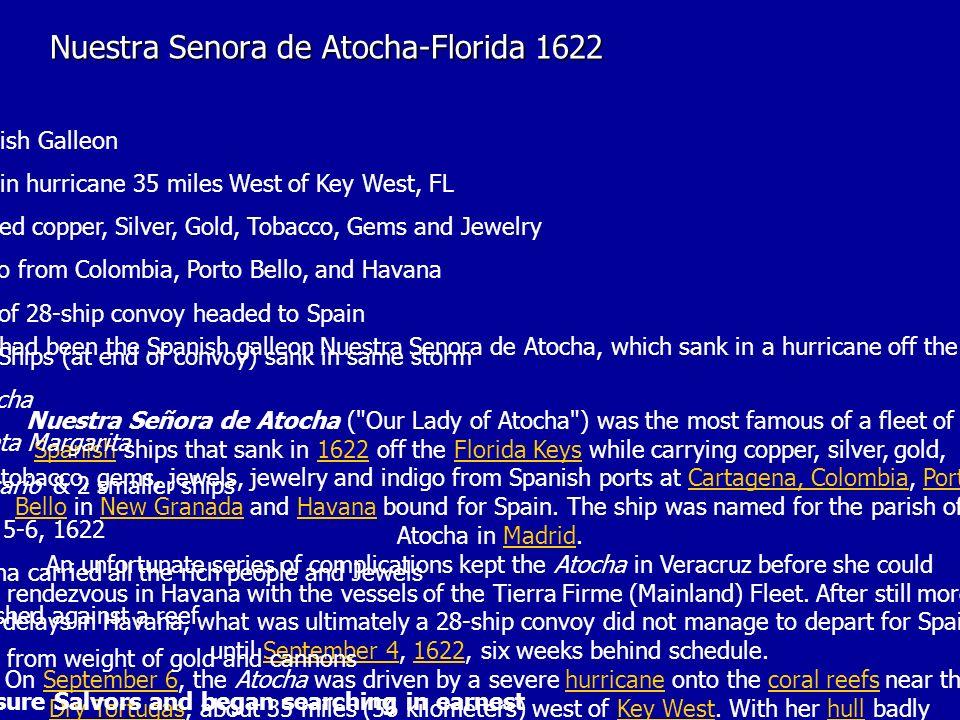Nuestra Senora de Atocha-Florida 1622
