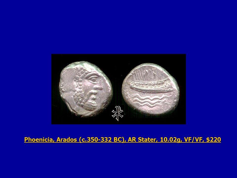 Phoenicia, Arados (c.350-332 BC), AR Stater, 10.02g, VF/VF, $220