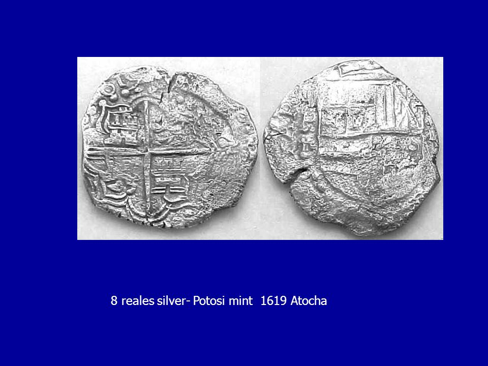 8 reales silver- Potosi mint 1619 Atocha