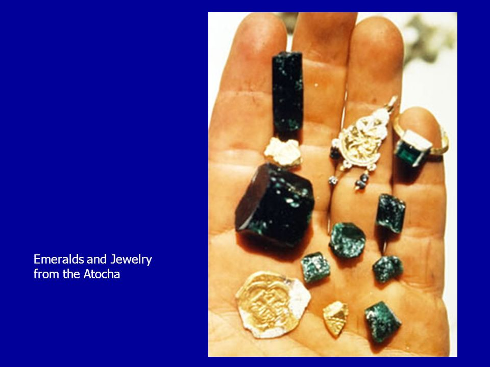 Emeralds and Jewelry from the Atocha