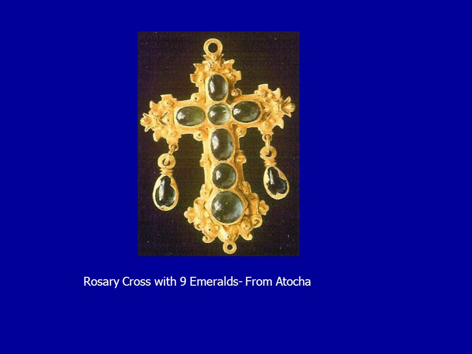 Rosary Cross with 9 Emeralds- From Atocha