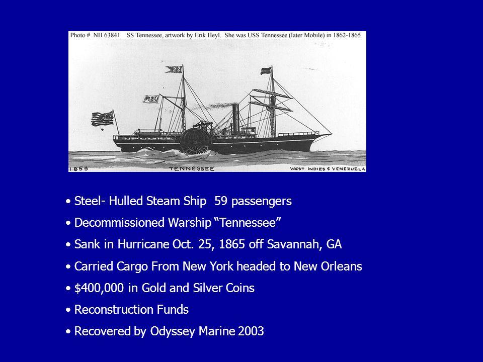 Steel- Hulled Steam Ship 59 passengers