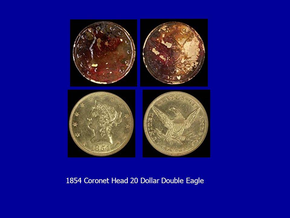 1854 Coronet Head 20 Dollar Double Eagle