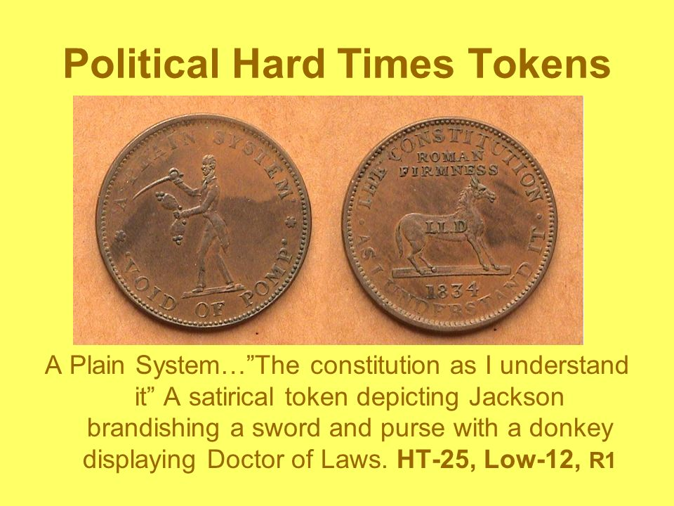 Political Hard Times Tokens