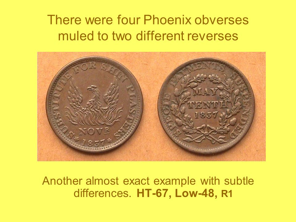 There were four Phoenix obverses muled to two different reverses