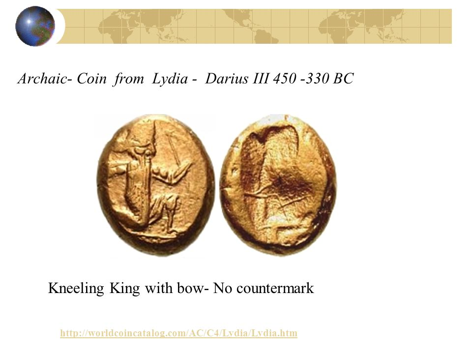 Archaic- Coin from Lydia - Darius III BC