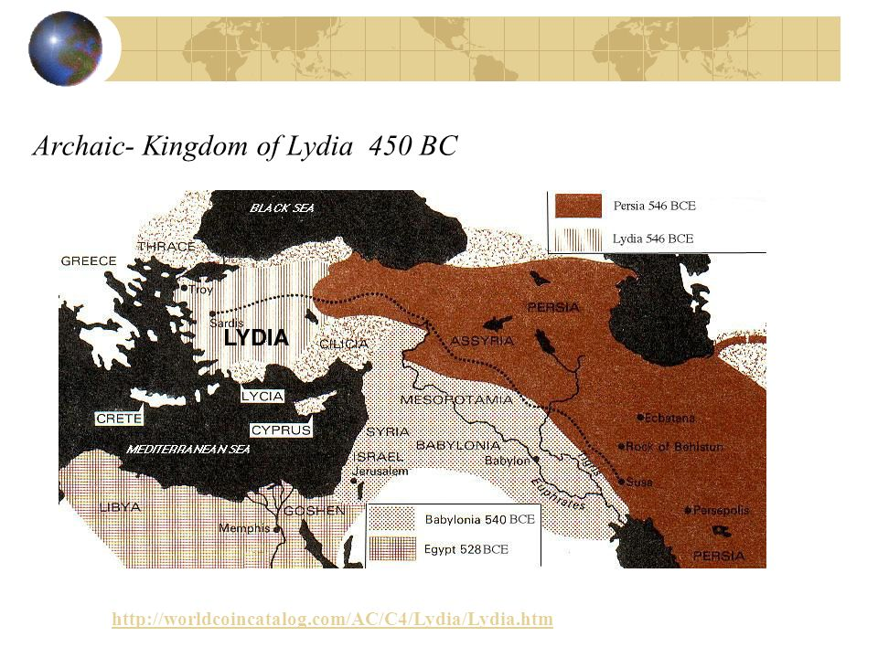 Archaic- Kingdom of Lydia 450 BC