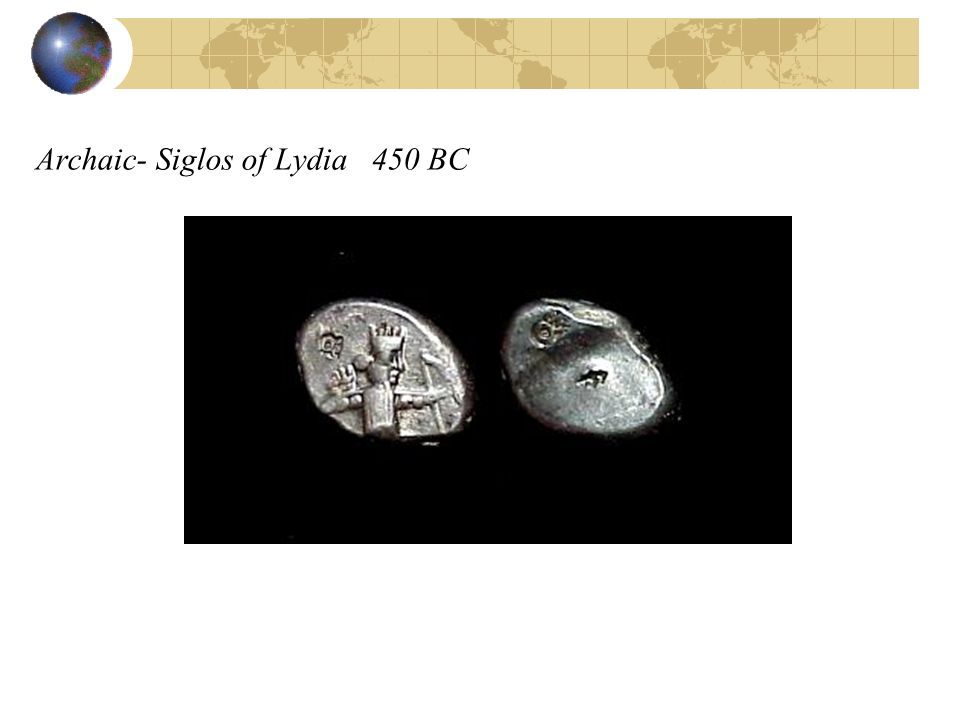 Archaic- Siglos of Lydia 450 BC