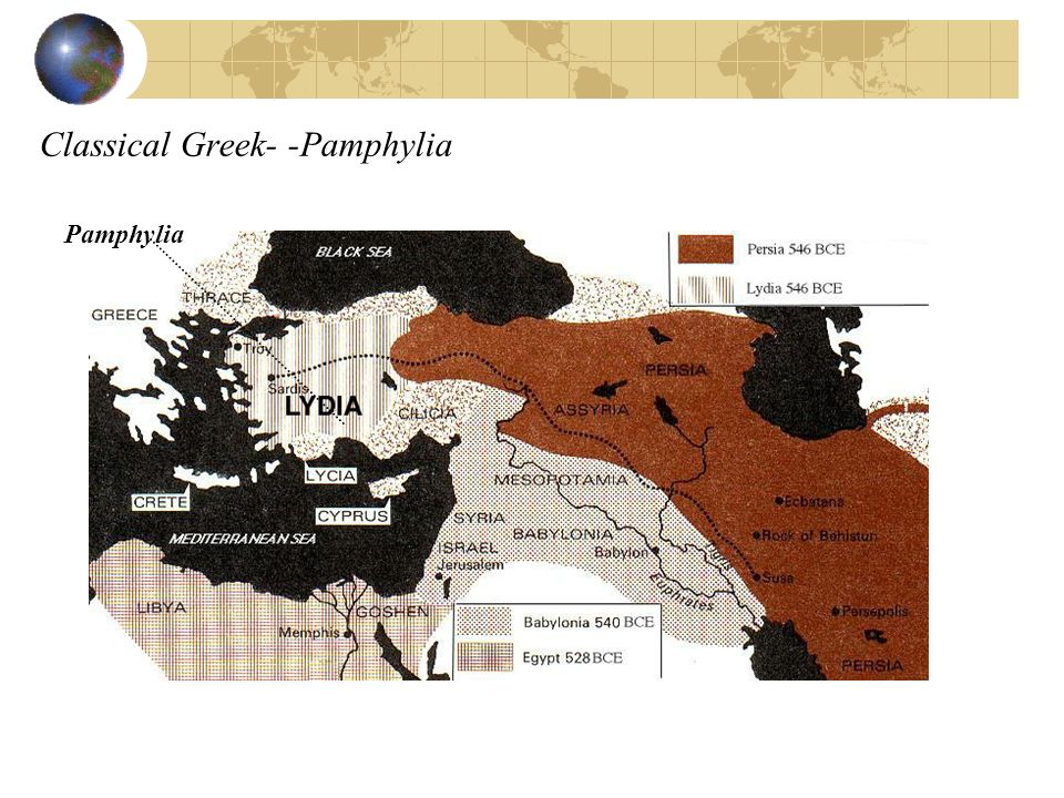 Classical Greek- -Pamphylia