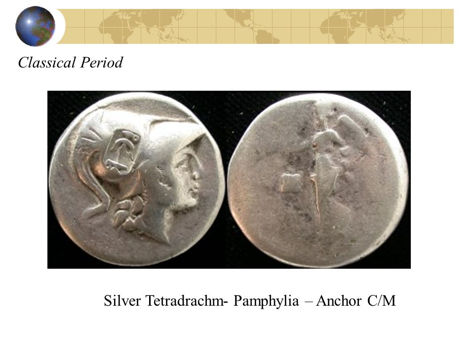 Classical Period Silver Tetradrachm- Pamphylia – Anchor C/M