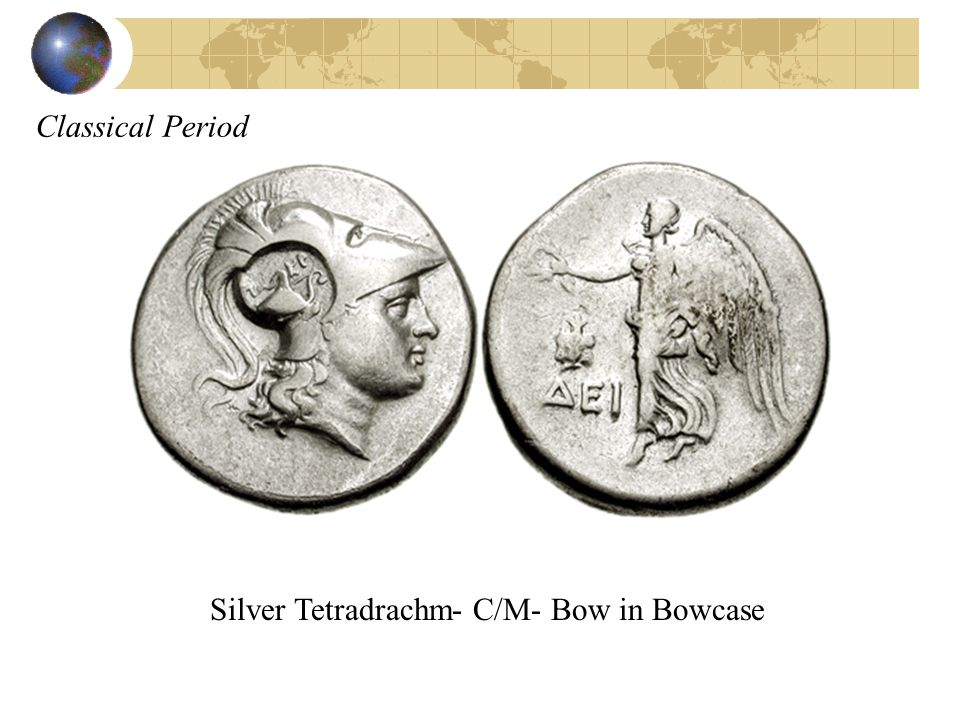 Classical Period Silver Tetradrachm- C/M- Bow in Bowcase