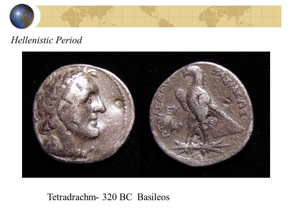 Tetradrachm- 320 BC Basileos