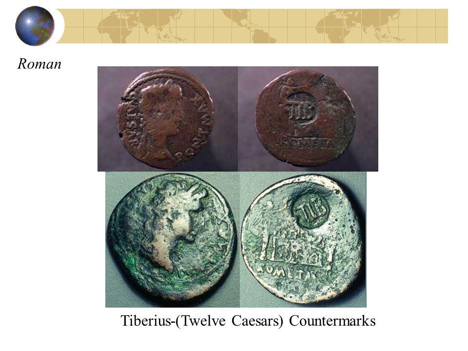 Tiberius-(Twelve Caesars) Countermarks