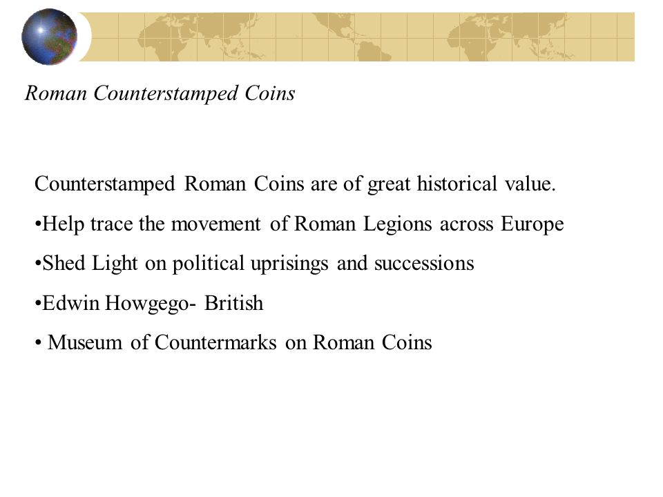 Roman Counterstamped Coins